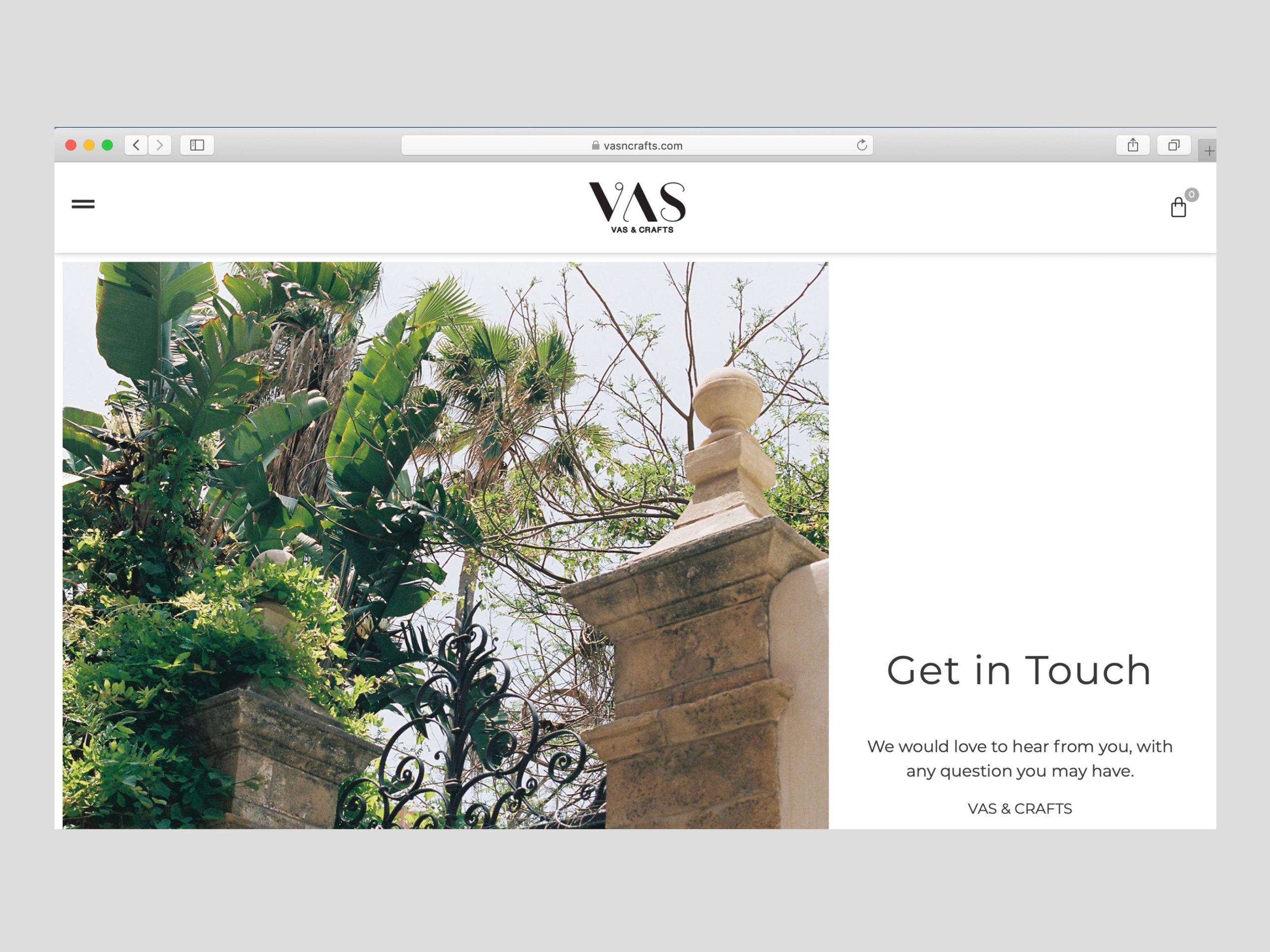 VAS website screenshot